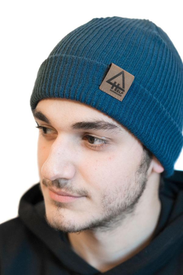 gorro azul help snowboards fisherman