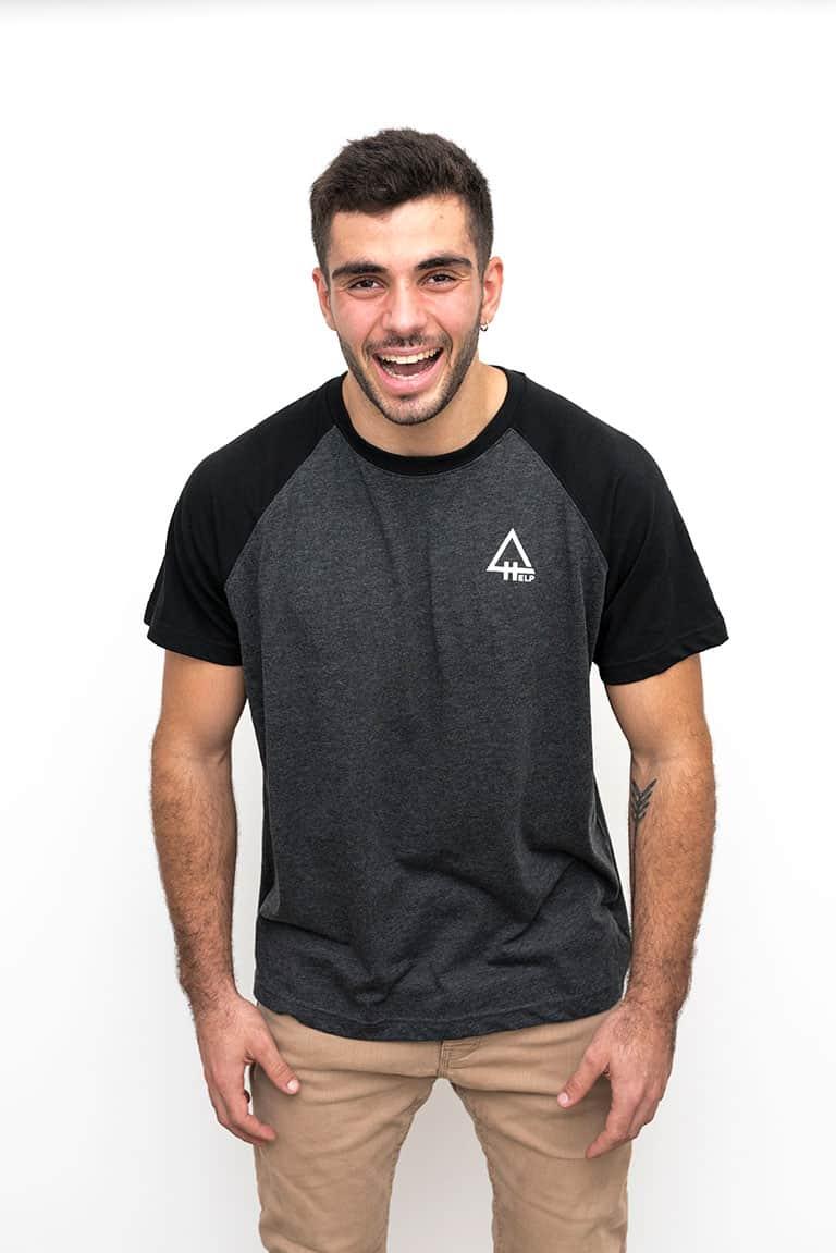 camiseta hombre help snowboards