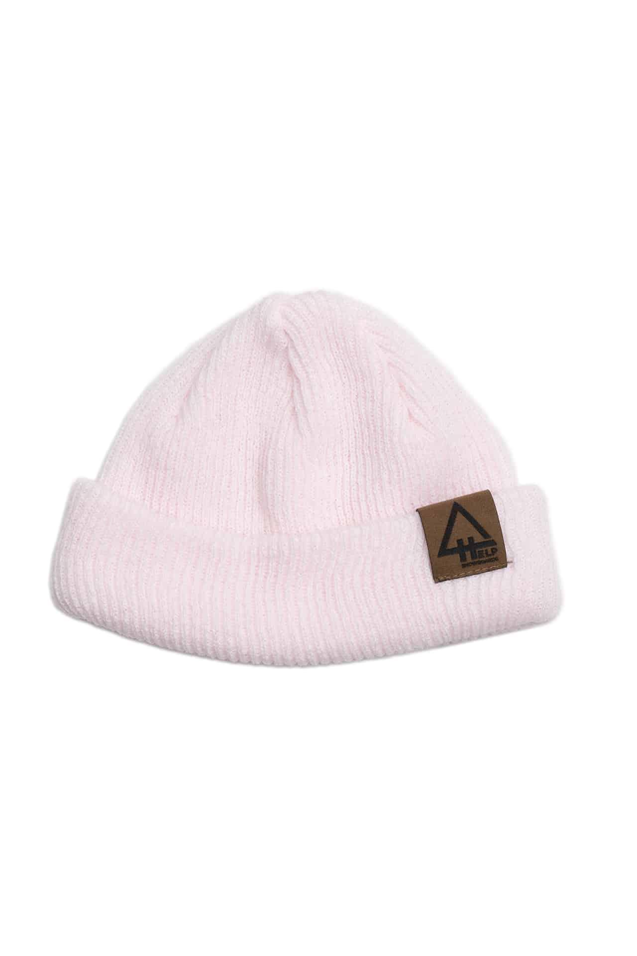 gorro invierno rosa